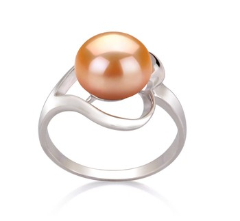 Sadie Pink 9-10mm AA Quality Freshwater 925 Sterling Silver Cultured Pearl Ring