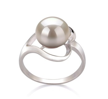 Sadie White 9-10mm AA Quality Freshwater 925 Sterling Silver Cultured Pearl Ring