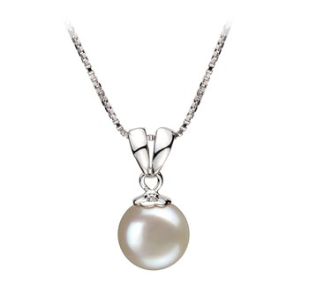 Sally White 9-10mm AA Quality Freshwater 925 Sterling Silver Cultured Pearl Pendant