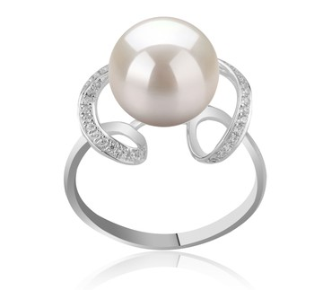 Sheila White 10-11mm AAAA Quality Freshwater 925 Sterling Silver Cultured Pearl Ring