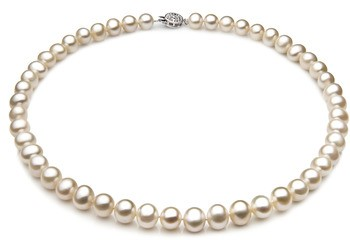 Single White 7-8mm A Quality Freshwater 925 Sterling Silver Cultured Pearl Necklace