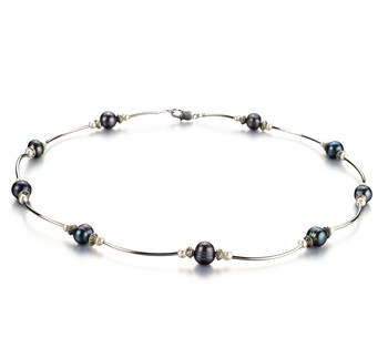 Sophia Black and White 5-7mm A Quality Freshwater Cultured Pearl Necklace