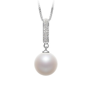 Talitha White 10-11mm AAAA Quality Freshwater 925 Sterling Silver Cultured Pearl Pendant