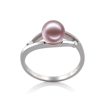 Tanya Lavender 6-7mm AAAA Quality Freshwater 14K White Gold Cultured Pearl Ring