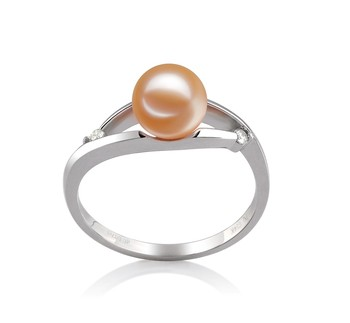 Tanya Pink 6-7mm AAAA Quality Freshwater 14K White Gold Cultured Pearl Ring