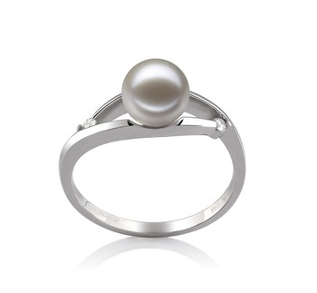 Tanya White 6-7mm AAAA Quality Freshwater 14K White Gold Cultured Pearl Ring