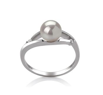 Tanya White 6-7mm AA Quality Japanese Akoya 14K White Gold Cultured Pearl Ring