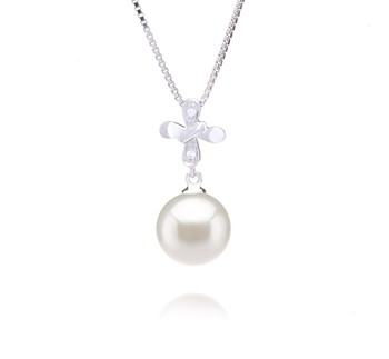 Taylor White 9-10mm AAAA Quality Freshwater 925 Sterling Silver Cultured Pearl Pendant