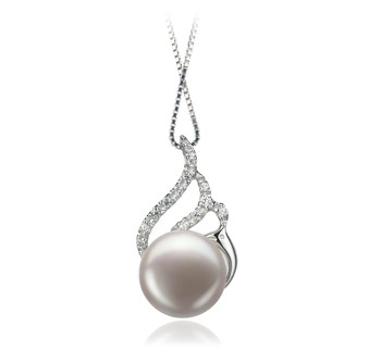 Tracy White 12-13mm AA Quality Freshwater 925 Sterling Silver Cultured Pearl Pendant