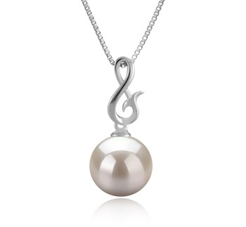 Valena White 9-10mm AAAA Quality Freshwater 925 Sterling Silver Cultured Pearl Pendant