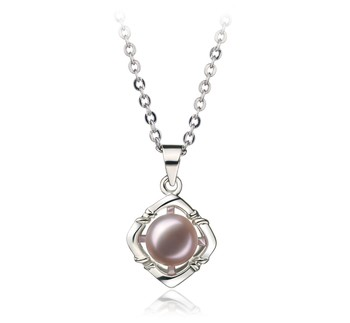 Vera Lavender 6-7mm AA Quality Freshwater White Bronze Cultured Pearl Pendant