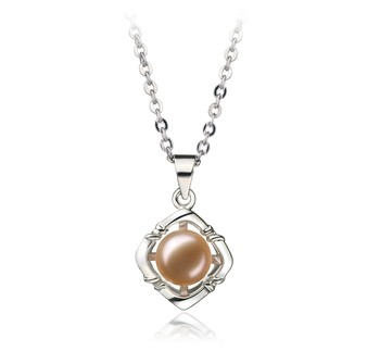 Vera Pink 6-7mm AA Quality Freshwater White Bronze Cultured Pearl Pendant