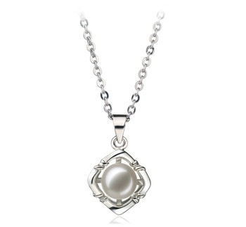 Vera White 6-7mm AA Quality Freshwater White Bronze Cultured Pearl Pendant
