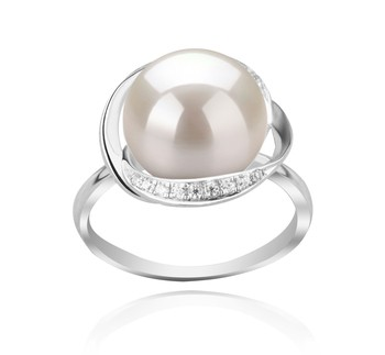 Wendy White 11-12mm AAA Quality Freshwater 925 Sterling Silver Cultured Pearl Ring