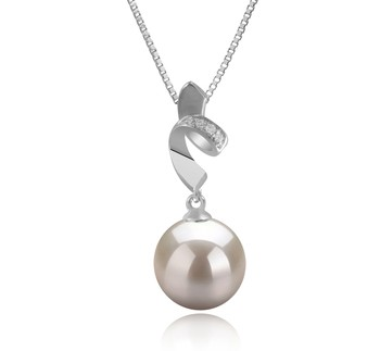 Winola White 9-10mm AAAA Quality Freshwater 925 Sterling Silver Cultured Pearl Pendant