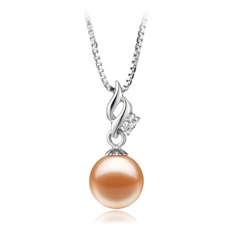 Zalina Pink 7-8mm AAAA Quality Freshwater 925 Sterling Silver Cultured Pearl Pendant
