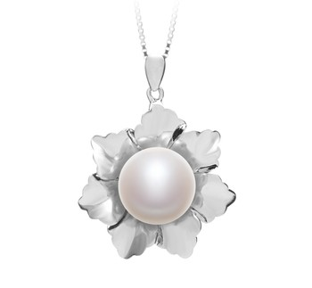 Zoe White 11.5-12mm AA Quality Freshwater 925 Sterling Silver Cultured Pearl Pendant